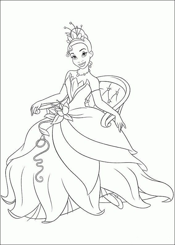 Best ideas about Tiana Printable Coloring Pages . Save or Pin Free Printable Princess Tiana Coloring Pages For Kids Now.