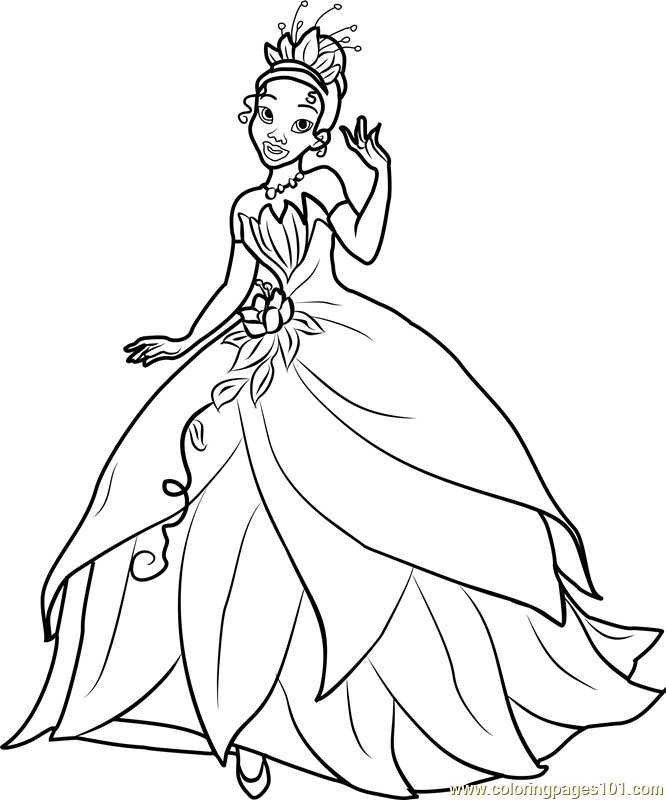Best ideas about Tiana Printable Coloring Pages . Save or Pin Princess Tiana Coloring Page Free Disney Princesses Now.