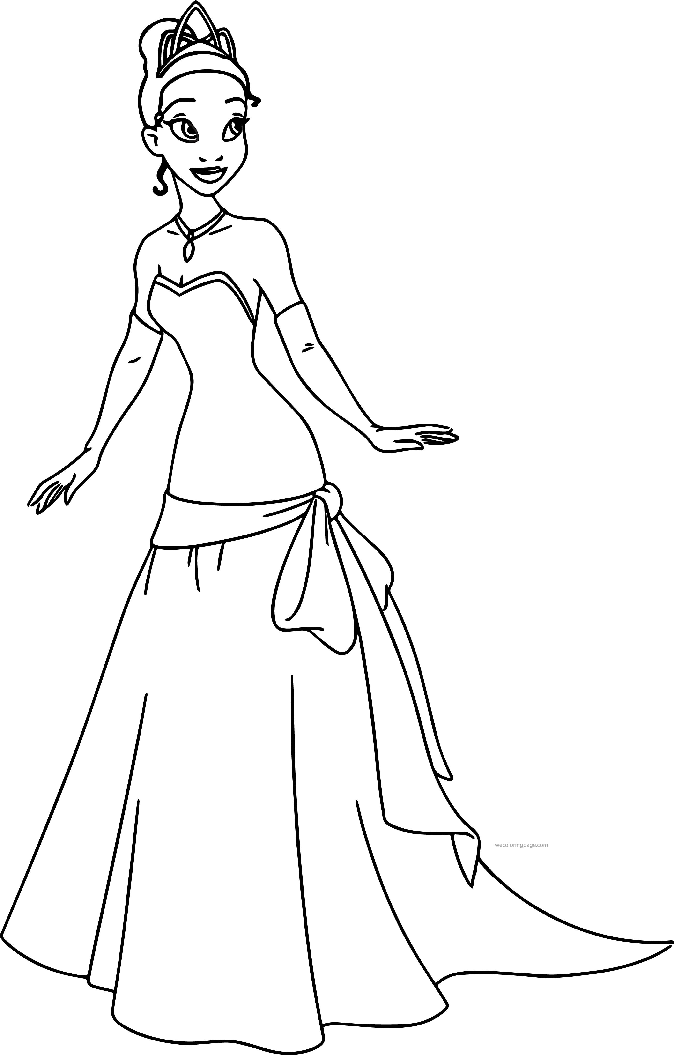Best ideas about Tiana Printable Coloring Pages . Save or Pin Disney The Princess And The Frog Perfect Tiana Dress Now.