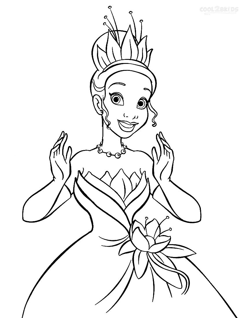Best ideas about Tiana Printable Coloring Pages . Save or Pin Printable Princess Tiana Coloring Pages For Kids Now.