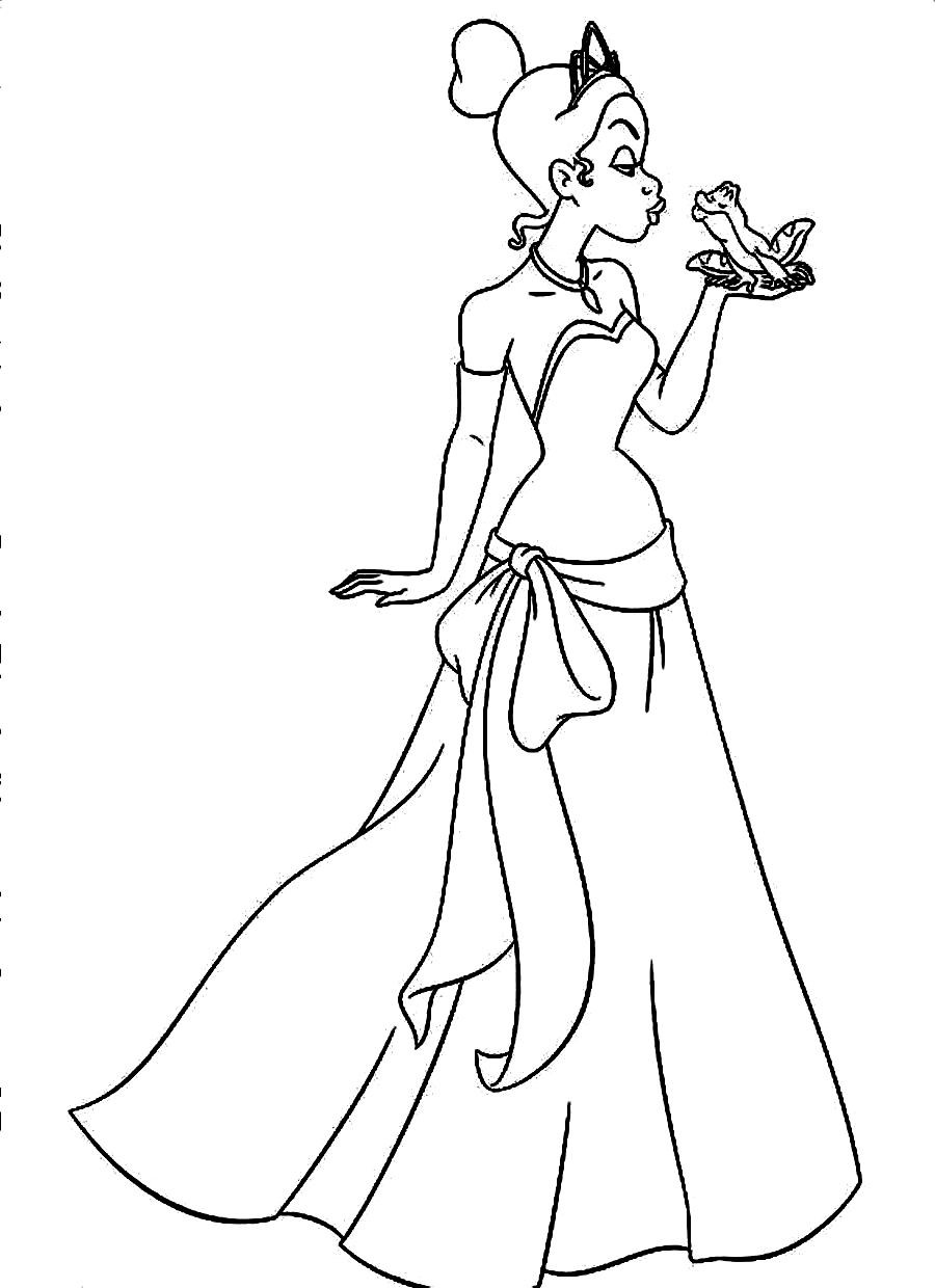 Best ideas about Tiana Printable Coloring Pages . Save or Pin Free Printable Coloring Pages Princess And The Frog Now.