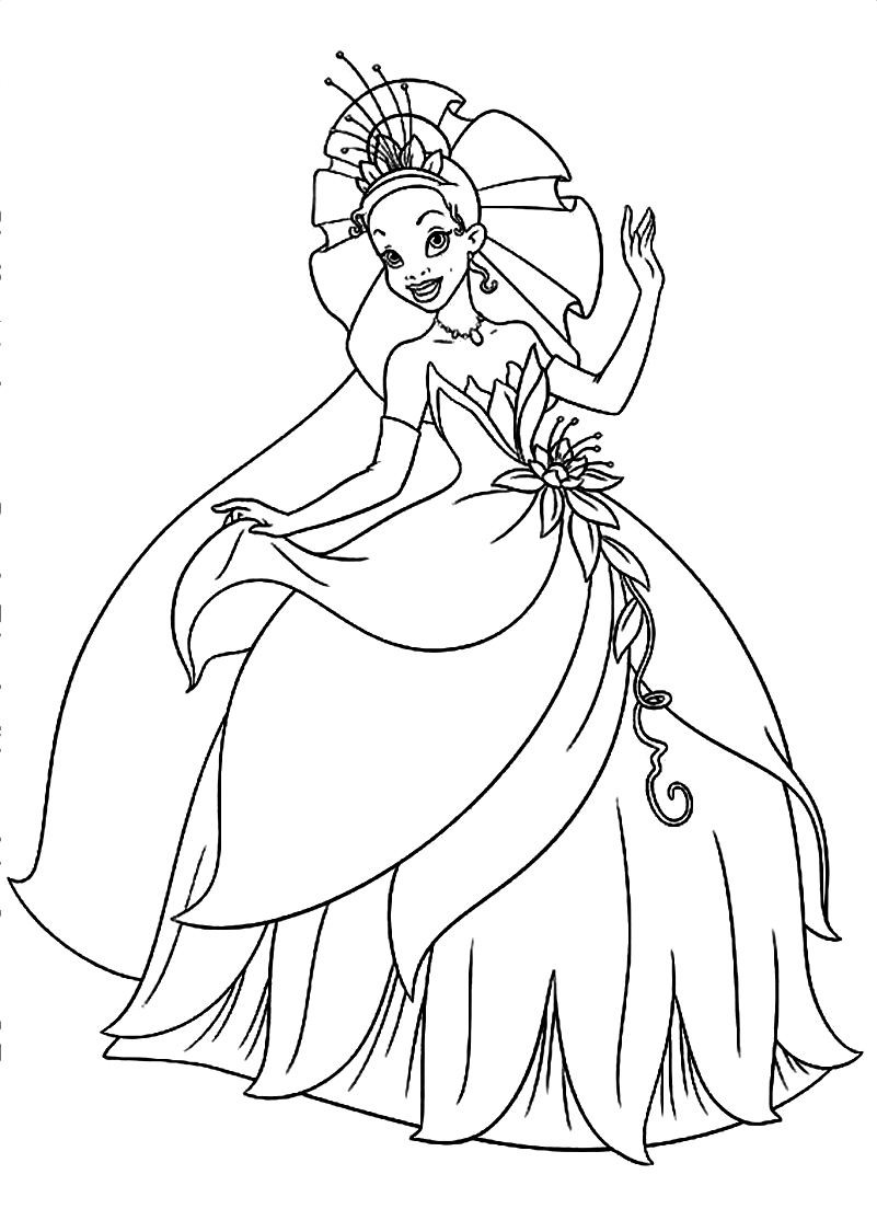 Best ideas about Tiana Printable Coloring Pages . Save or Pin Free coloring pages of princess Now.