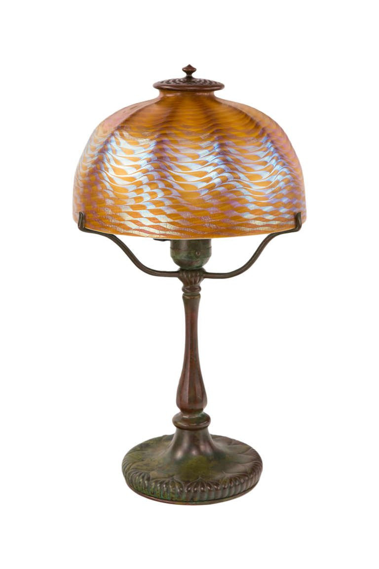 "Best ideas about Tiffany Desk Lamp . Save or Pin Art Nouveau ""Damascene"" Desk Lamp by Tiffany Studios at Now."