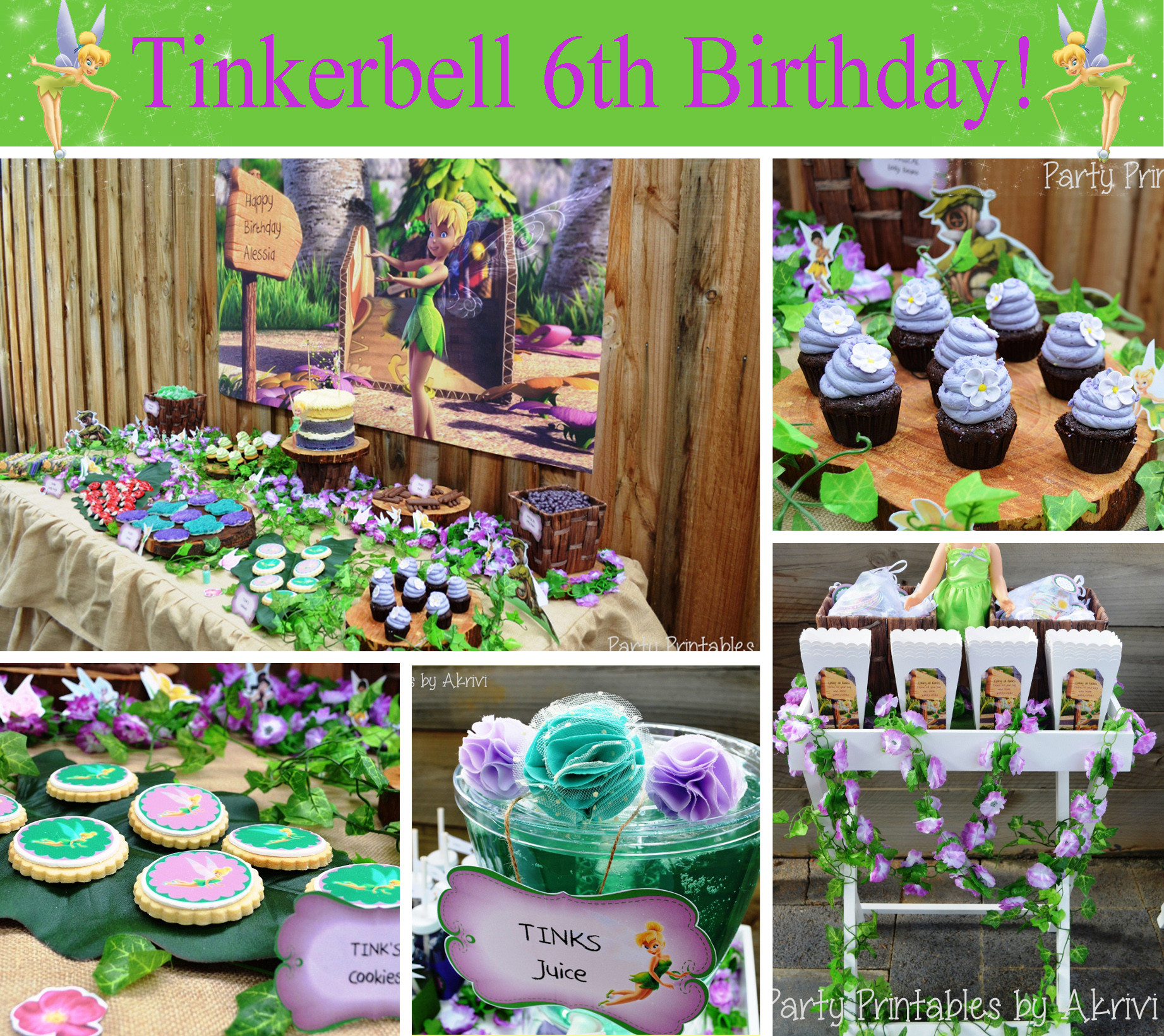 Best ideas about Tinkerbell Birthday Party Idea . Save or Pin Cupcake Express Blog — DIY Printable Birthday Parties Now.