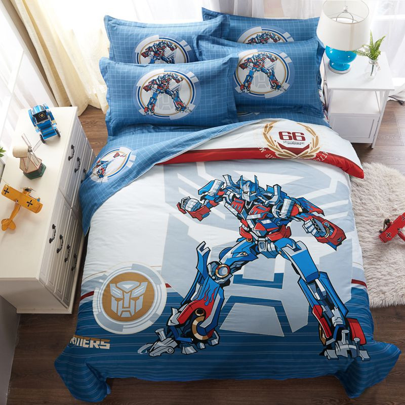 Best ideas about Transformers Bedroom Sets . Save or Pin Transformers bedding set Now.