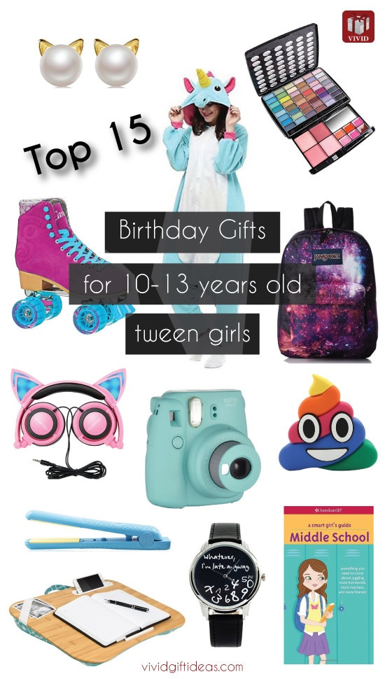Best ideas about Tween Gift Ideas Girls . Save or Pin Top 15 Birthday Gift Ideas for Tween Girls Vivid s Gift Now.