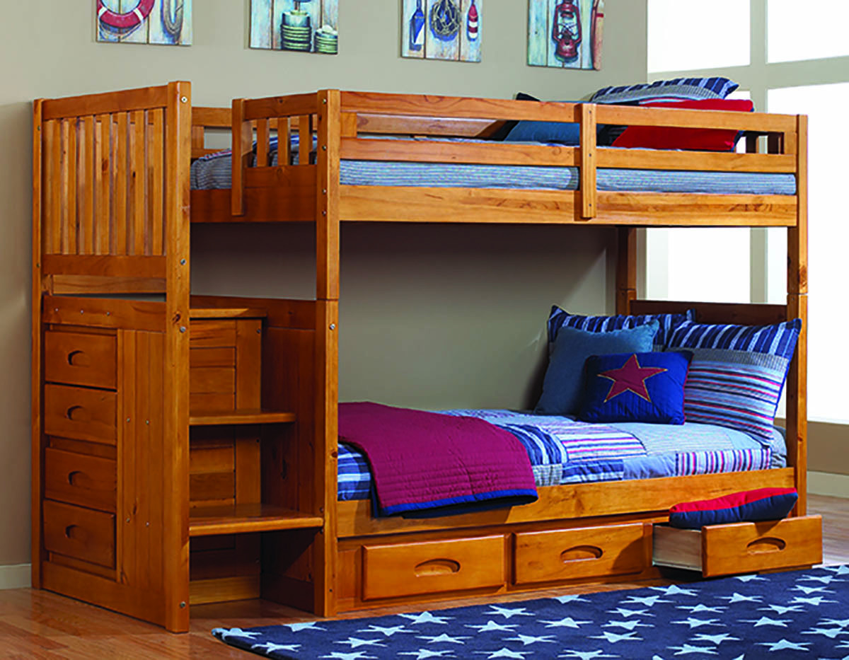 Best ideas about Twin Over Twin Bunk Bed With Stairs . Save or Pin How to Build Twin Over Twin Bunk Bed With Stairs Now.