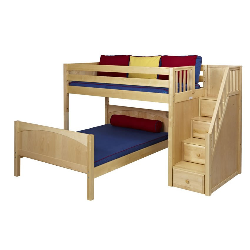 Best ideas about Twin Over Twin Bunk Bed With Stairs . Save or Pin Twin Bunk Beds With Stairs Berg Furniture Utica Twin Over Now.