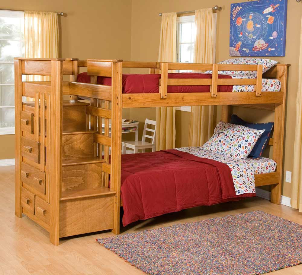 Best ideas about Twin Over Twin Bunk Bed With Stairs . Save or Pin Loft Beds Now.