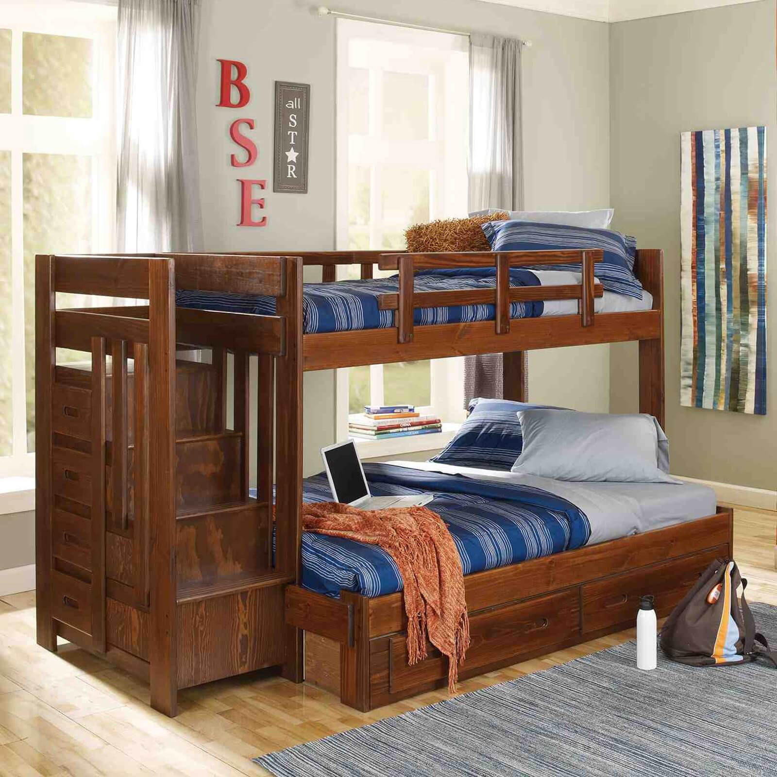 Best ideas about Twin Over Twin Bunk Bed With Stairs . Save or Pin Top 10 Types of Twin over Full Bunk Beds Buying Guide Now.