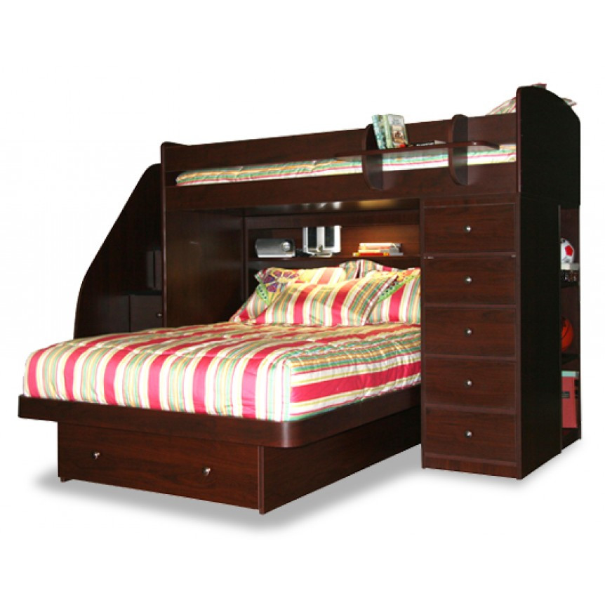 Best ideas about Twin Over Twin Bunk Bed With Stairs . Save or Pin Home ficeDecoration Now.