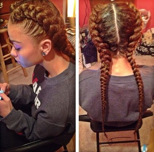 Best ideas about Two Braids Hairstyles With Weave . Save or Pin 20 Splendid Goddess Braids Hairstyles With & Tutorials Now.