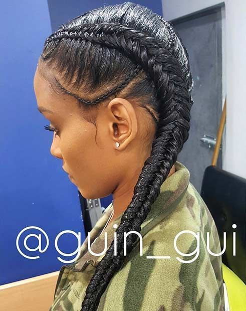 Best ideas about Two Braids Hairstyles With Weave . Save or Pin two braids hairstyles with weave Google Search Now.