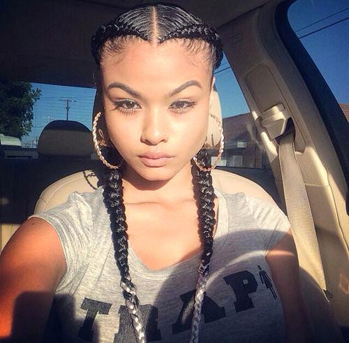 Best ideas about Two Braids Hairstyles With Weave . Save or Pin Unique Natural Braid Styles Without Weave Braid Hairstyles Now.