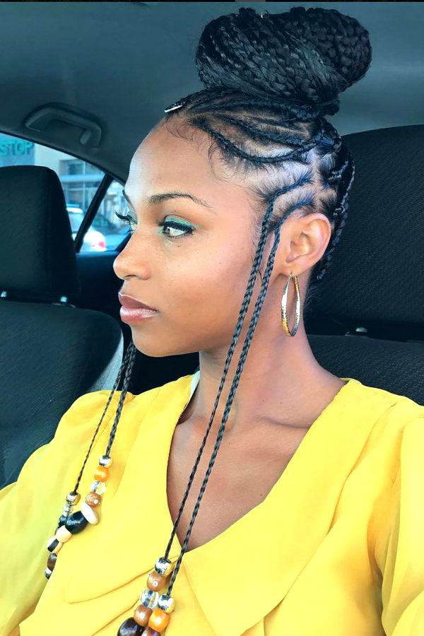 Best ideas about Two Braids Hairstyles With Weave . Save or Pin Cute Braiding Hairstyles With Weave HairStyles Now.