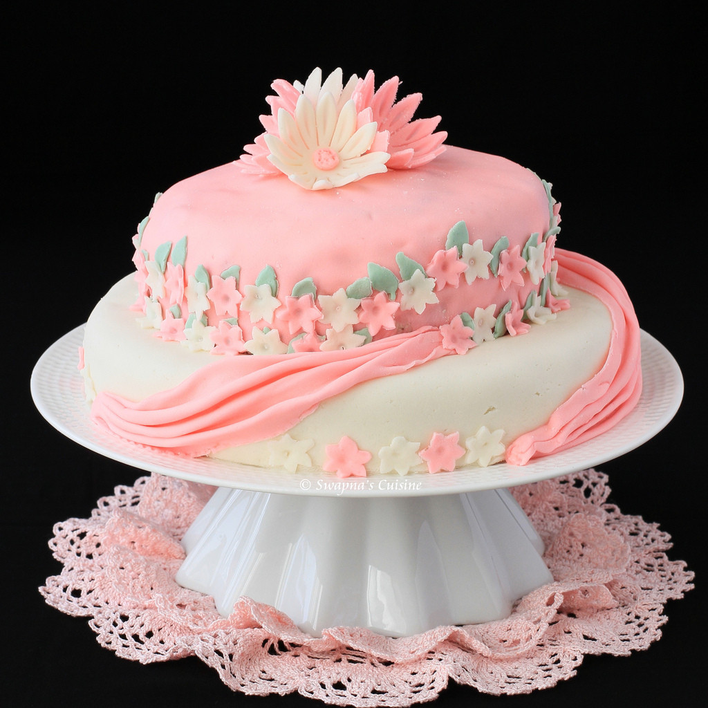 Best ideas about Two Tiered Birthday Cake . Save or Pin Swapna s Cuisine Two Tier Birthday Cake with Marshmallow Now.