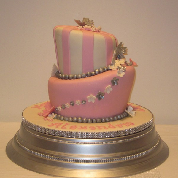 Best ideas about Two Tiered Birthday Cake . Save or Pin Two Tier Topsy Turvy Birthday Cake Now.