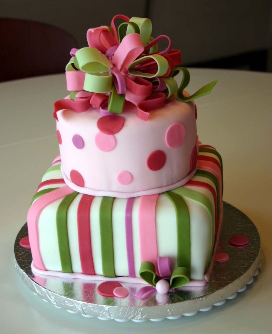 Best ideas about Two Tiered Birthday Cake . Save or Pin Birthday Present Cake 2 Tier CakeCentral Now.