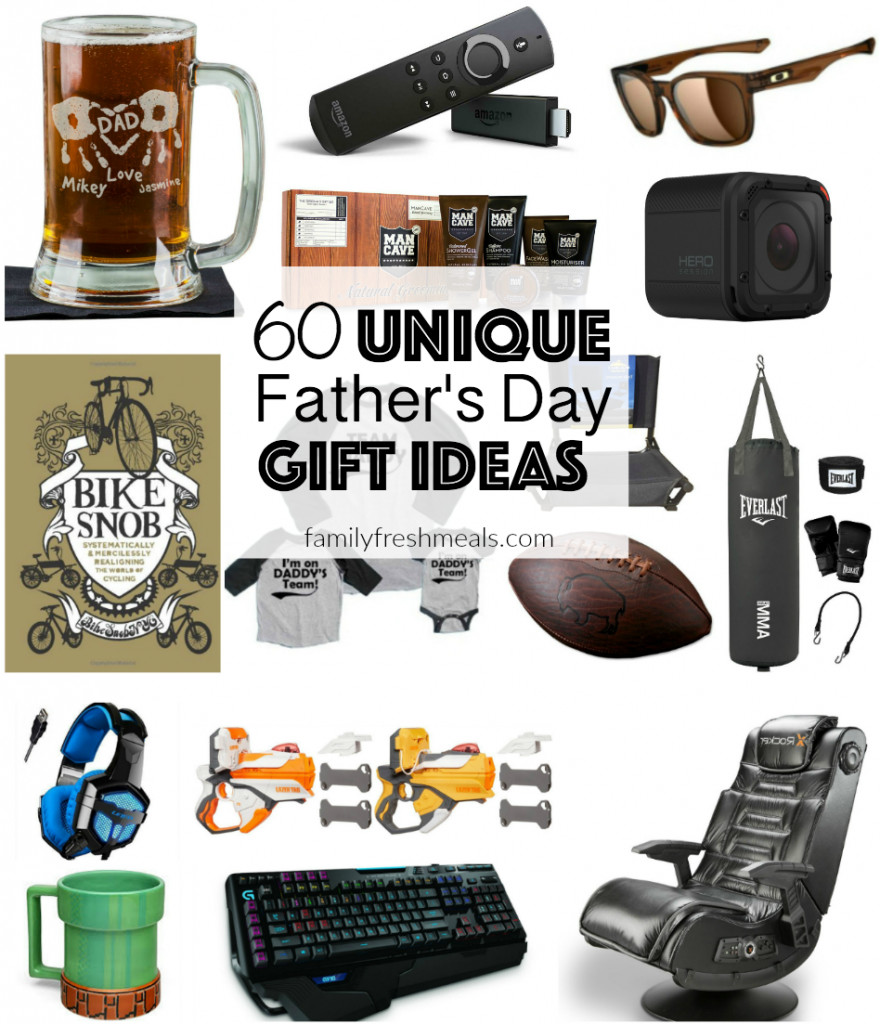 Best ideas about Unique Fathers Day Gift Ideas . Save or Pin 60 Unique Father s Day Gift Ideas Family Fresh Meals Now.