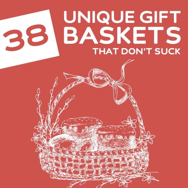 Best ideas about Unique Gift Baskets Ideas . Save or Pin 38 Unique Gift Baskets That Don't Suck Dodo Burd Now.
