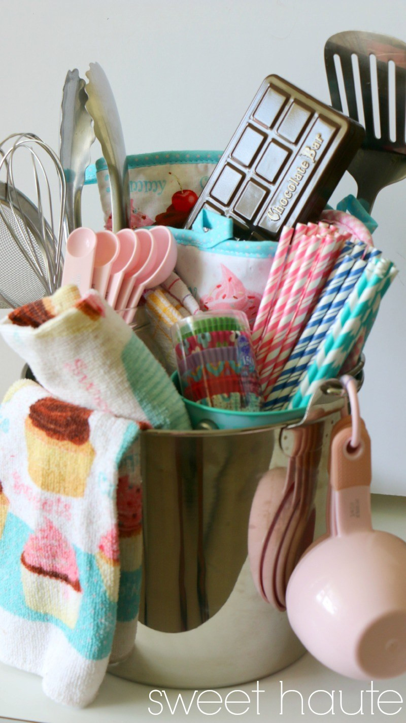 Best ideas about Unique Gift Baskets Ideas . Save or Pin Baking DIY Gift Basket Idea SWEETHAUTE Now.