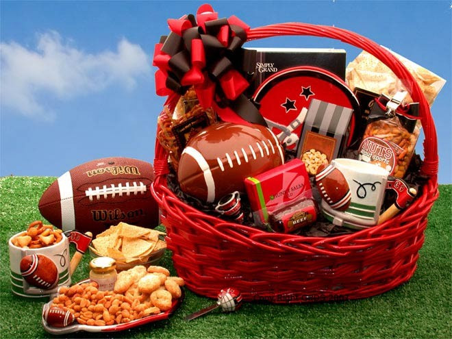 Best ideas about Unique Gift Baskets Ideas . Save or Pin Football Fanatic Sports Gift Basket Now.