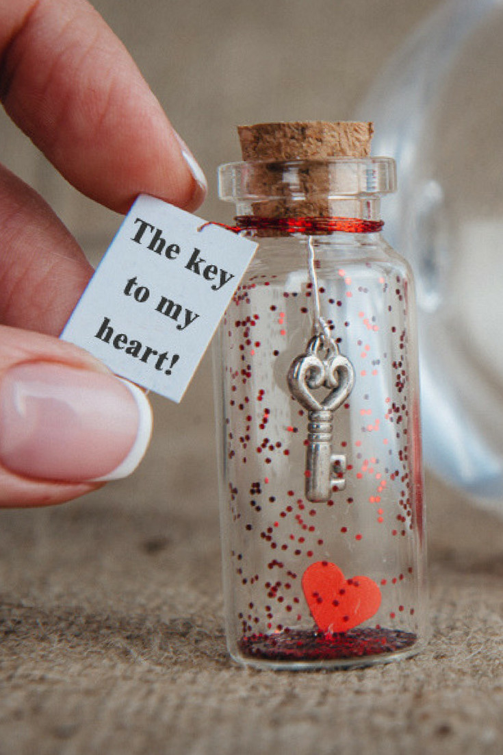 Best ideas about Unique Gift Ideas For Girlfriend . Save or Pin Personalized Gift for Girlfriend Gift for Boyfriend Key to Now.