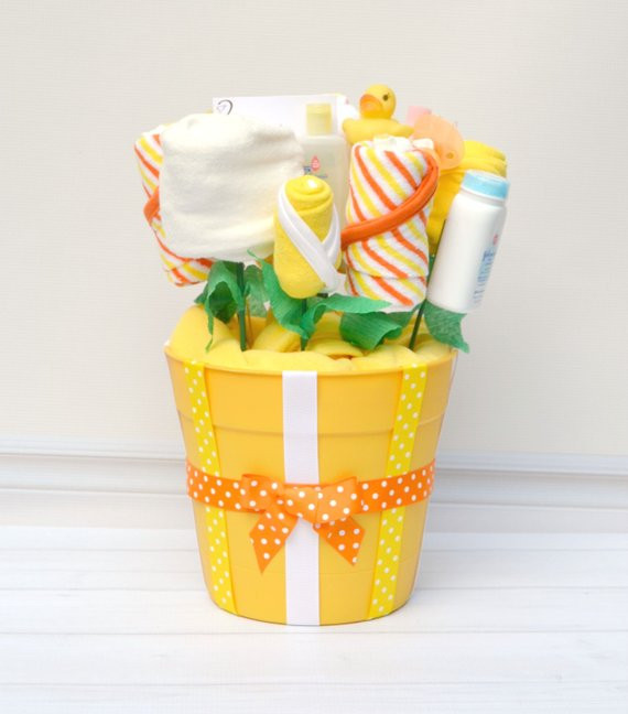 Best ideas about Unisex Baby Gift Ideas . Save or Pin Baby Gifts Neutral Baby Bath Gift Basket Gender Reveal Now.
