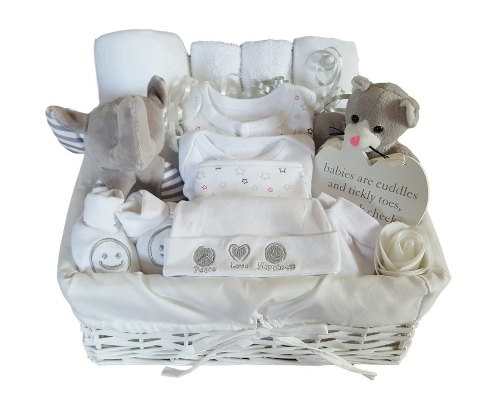 Best ideas about Unisex Baby Gift Ideas . Save or Pin Baby Gift Basket Uni Baby Hamper Baby Shower Gift Now.