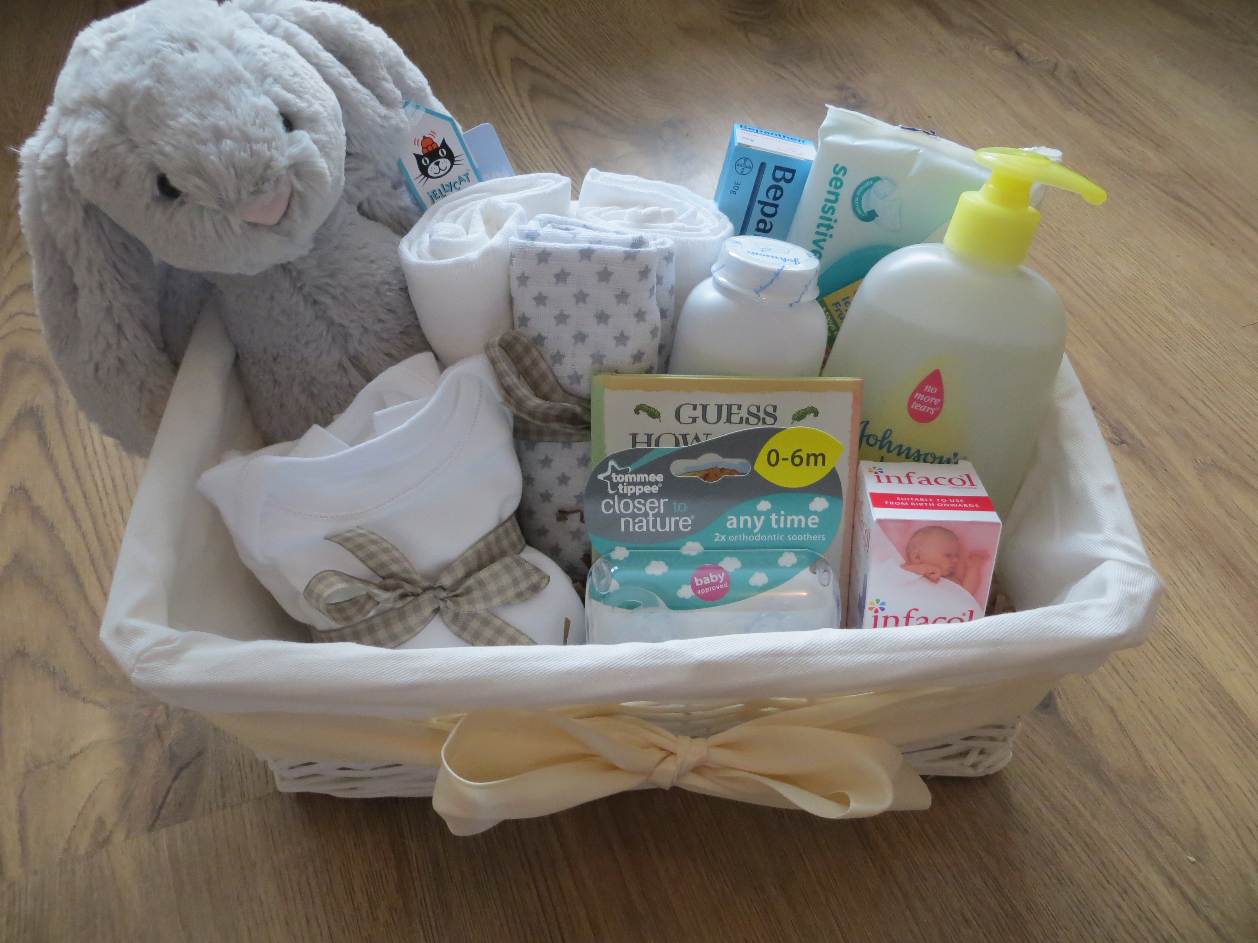 Best ideas about Unisex Baby Gift Ideas . Save or Pin DIY gender neutral baby hamper Now.