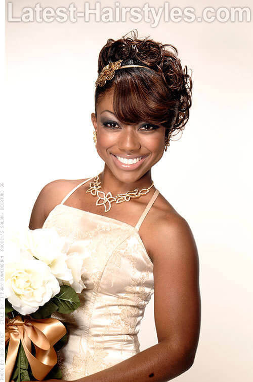 Best ideas about Updos African American Hairstyles . Save or Pin 11 African American Wedding Hairstyles For The Bride & Her Now.