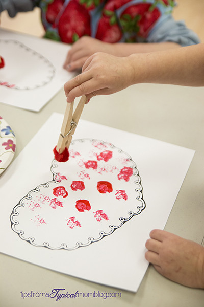 Best ideas about Valentine Arts And Crafts For Preschoolers . Save or Pin Valentine Pom Pom Painting for Preschoolers Now.