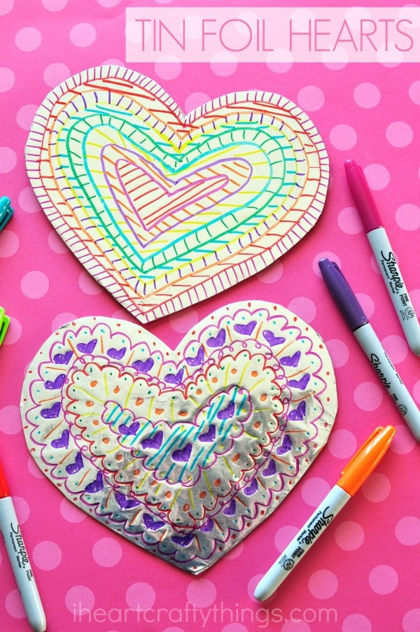 Best ideas about Valentine Day Craft Ideas For Preschoolers . Save or Pin Tin Foil Heart Valentine s Day Craft Now.