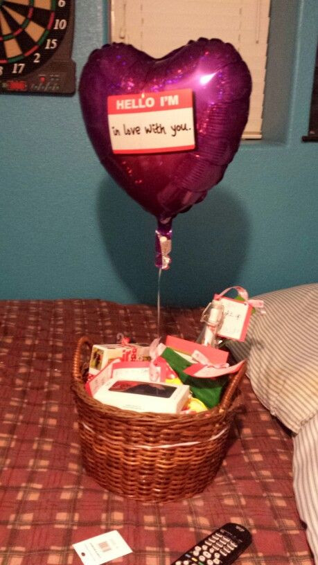 Best ideas about Valentine Gift Ideas For New Boyfriend . Save or Pin Valentine s Day t basket for my boyfriend His favorite Now.