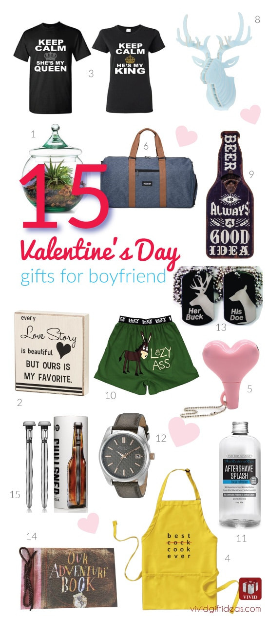Best ideas about Valentine'S Day Gift Ideas For Your Boyfriend . Save or Pin 15 Valentine s Day Gift Ideas for Your Boyfriend Vivid s Now.