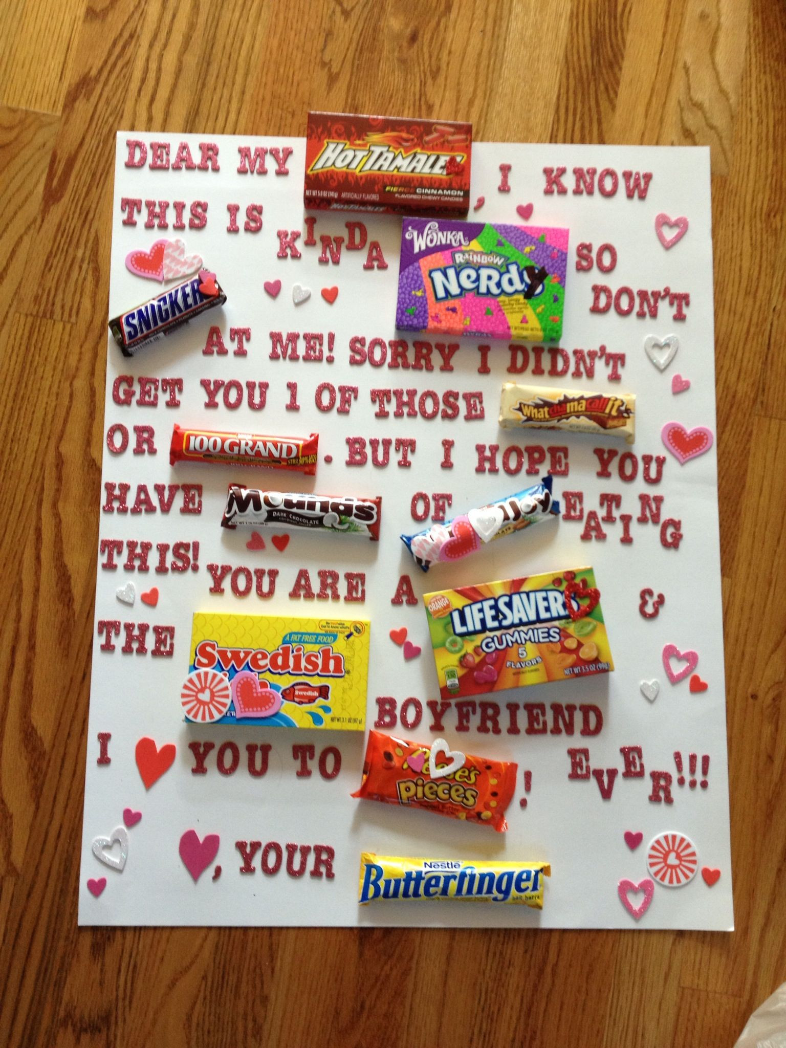 Best ideas about Valentine'S Day Gift Ideas For Your Boyfriend . Save or Pin What I made my boyfriend for Valentines day Now.