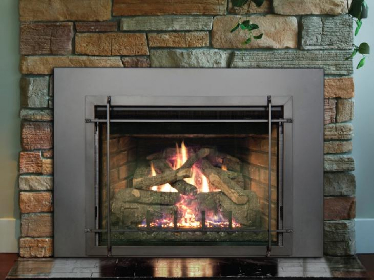 Best ideas about Vent Free Gas Fireplace Insert . Save or Pin Gas fireplace insert direct vent fireplace installation Now.