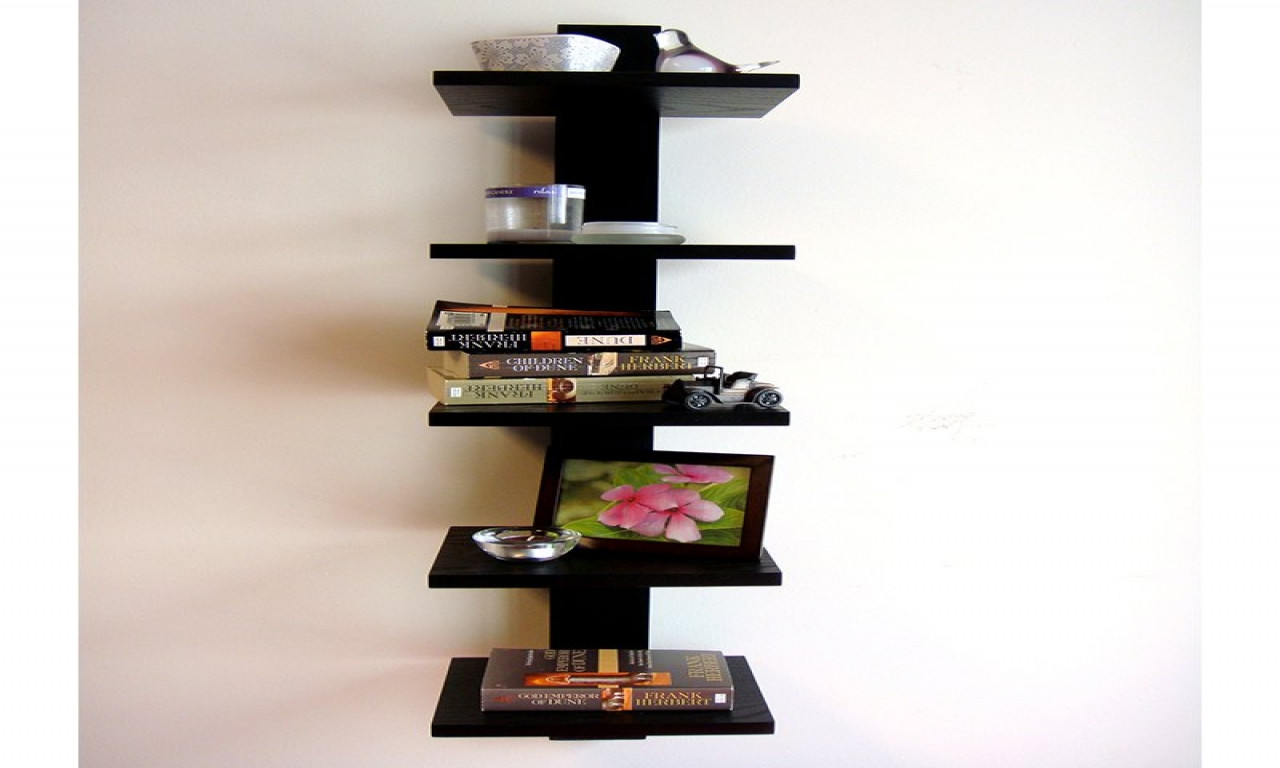 Best ideas about Vertical Wall Shelf . Save or Pin Decorative wall shelves vertical spine bookcase spine Now.