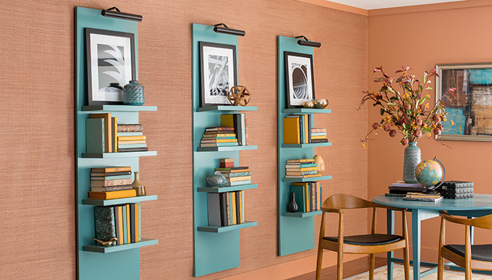 Best ideas about Vertical Wall Shelf . Save or Pin Lighted Vertical Wall Shelf Now.