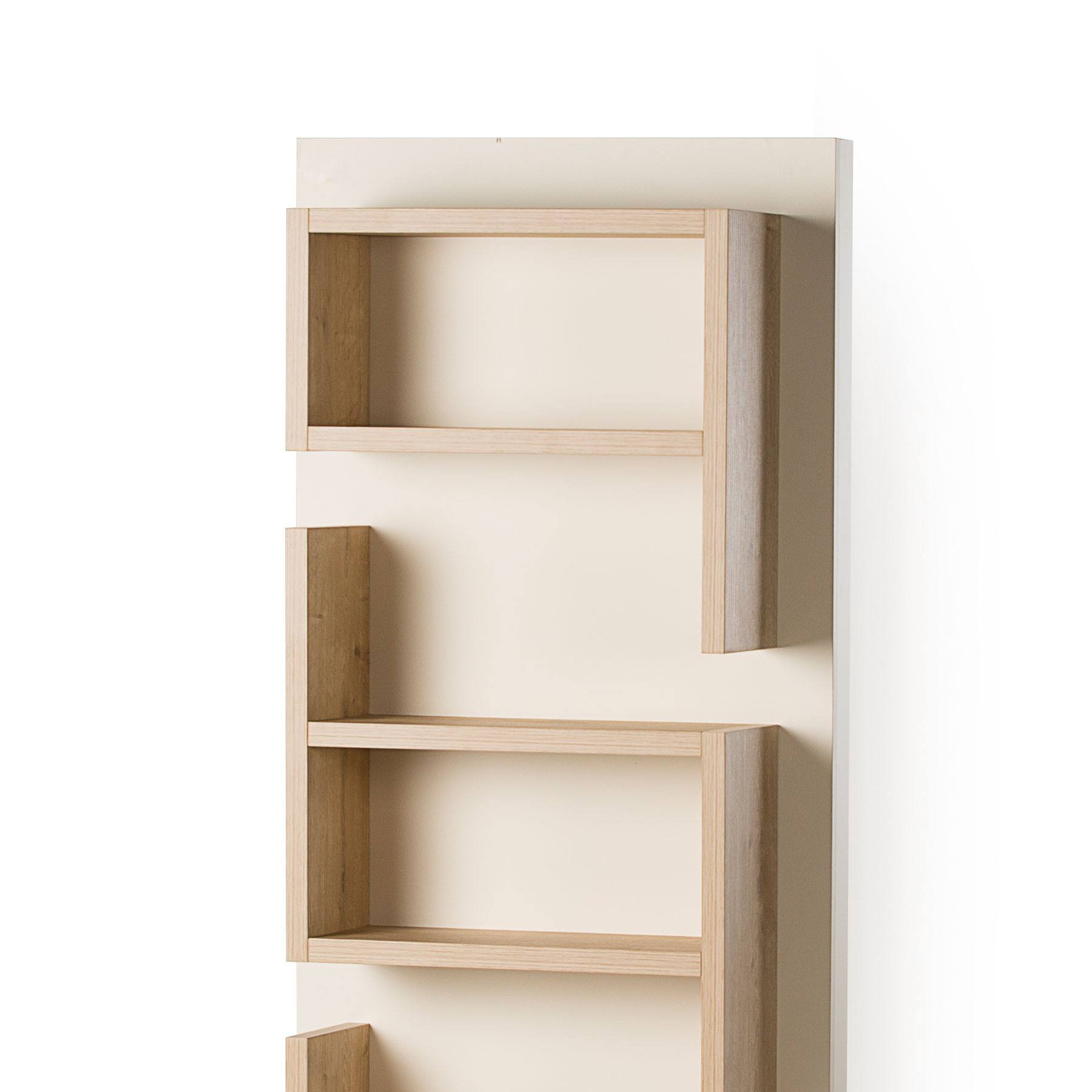 Best ideas about Vertical Wall Shelf . Save or Pin UK CF Fusion Oak and Cream Vertical Wall Shelf Unit Now.