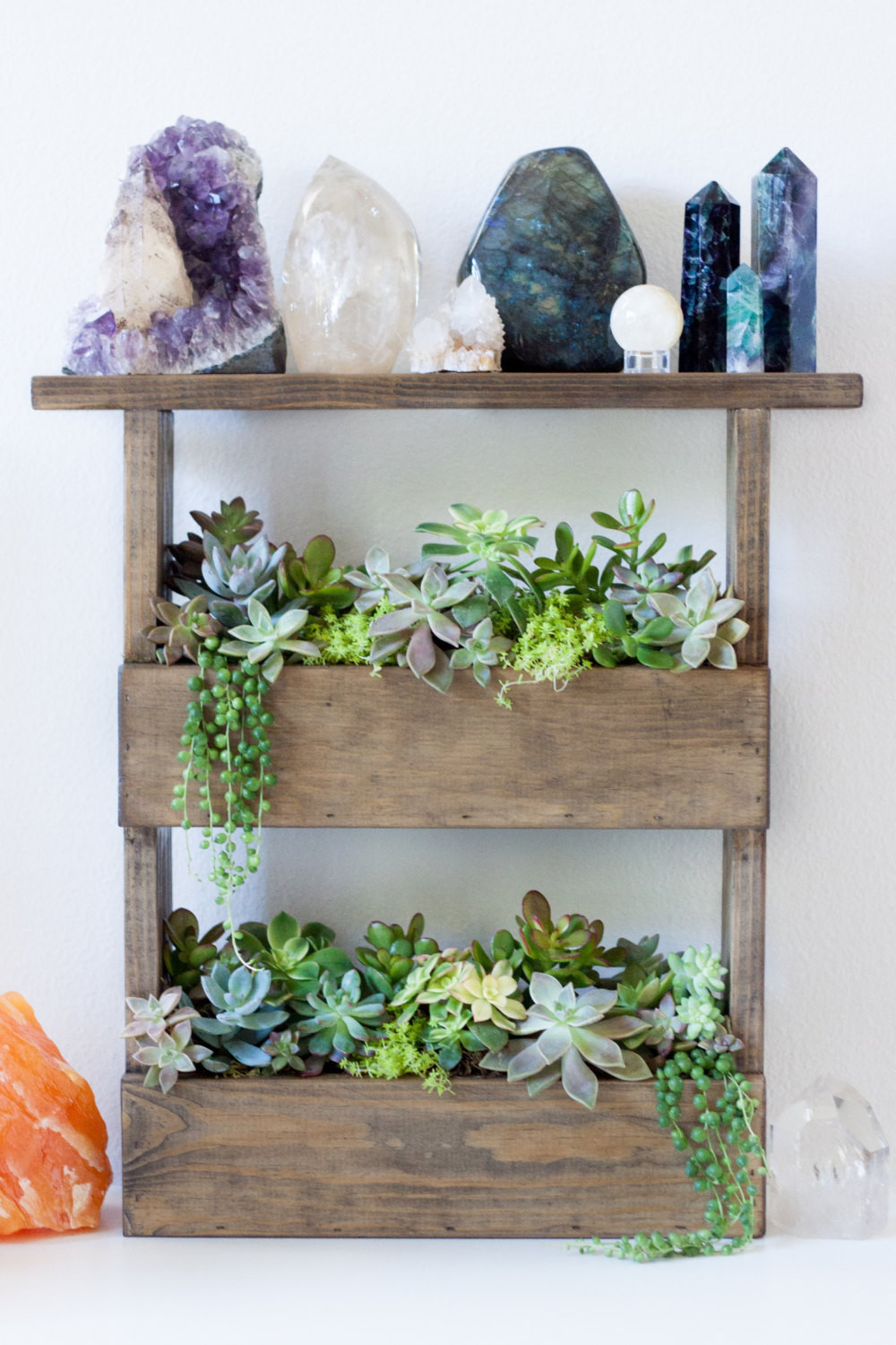 Best ideas about Vertical Wall Shelf . Save or Pin Vertical Wall Planter Box Pallet Style & Crystal Display Shelf Now.