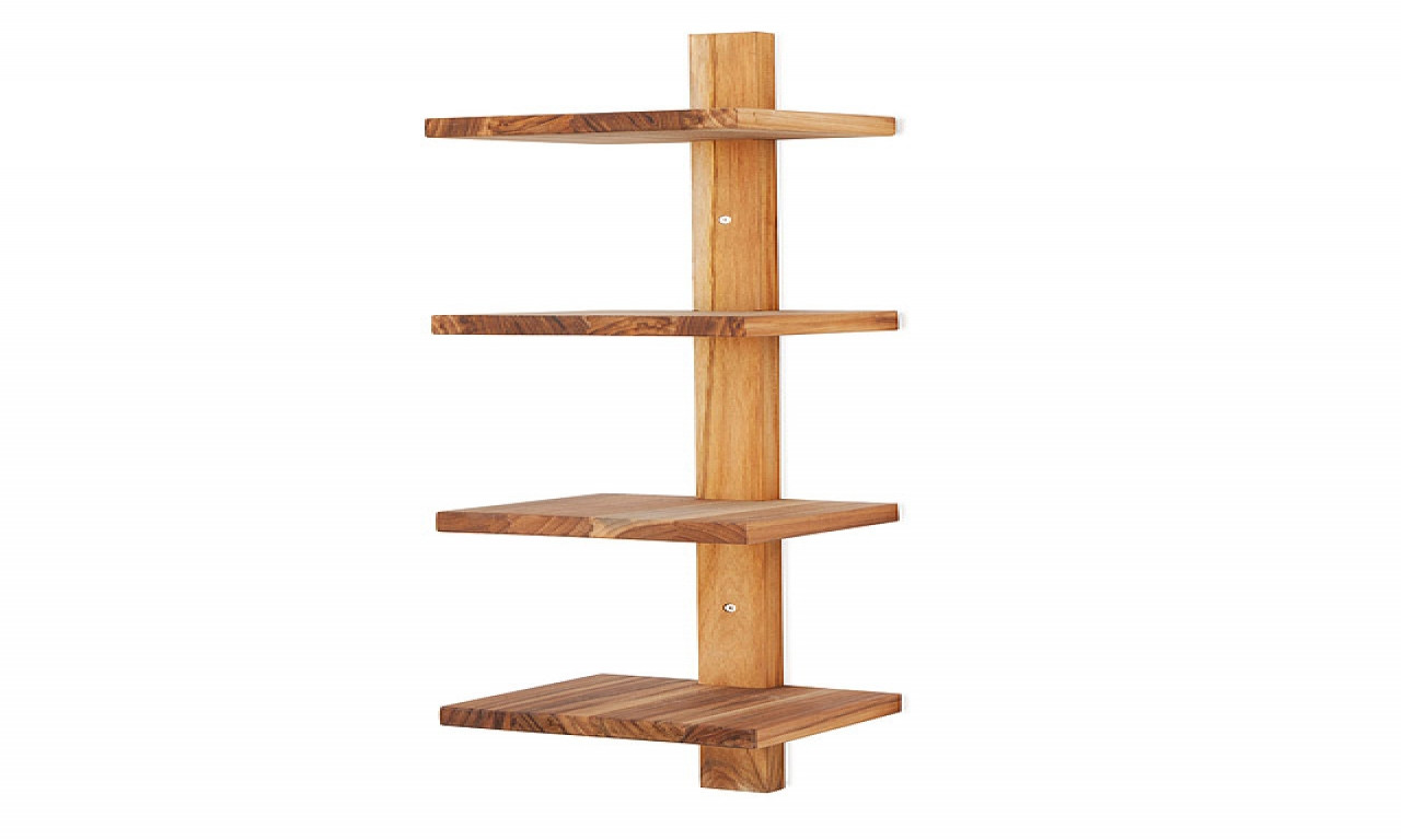 Best ideas about Vertical Wall Shelf . Save or Pin Teak bathroom shelves vertical bathroom wall shelves Now.