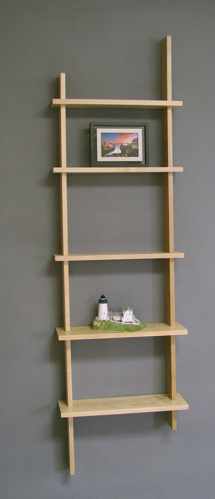 Best ideas about Vertical Wall Shelf . Save or Pin Deluxe Vertical Five Shelf Wall Unit by Woodform in Wall Now.