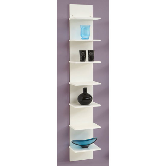 Best ideas about Vertical Wall Shelf . Save or Pin Vertical white wall shelving flip for £59 95 Now.