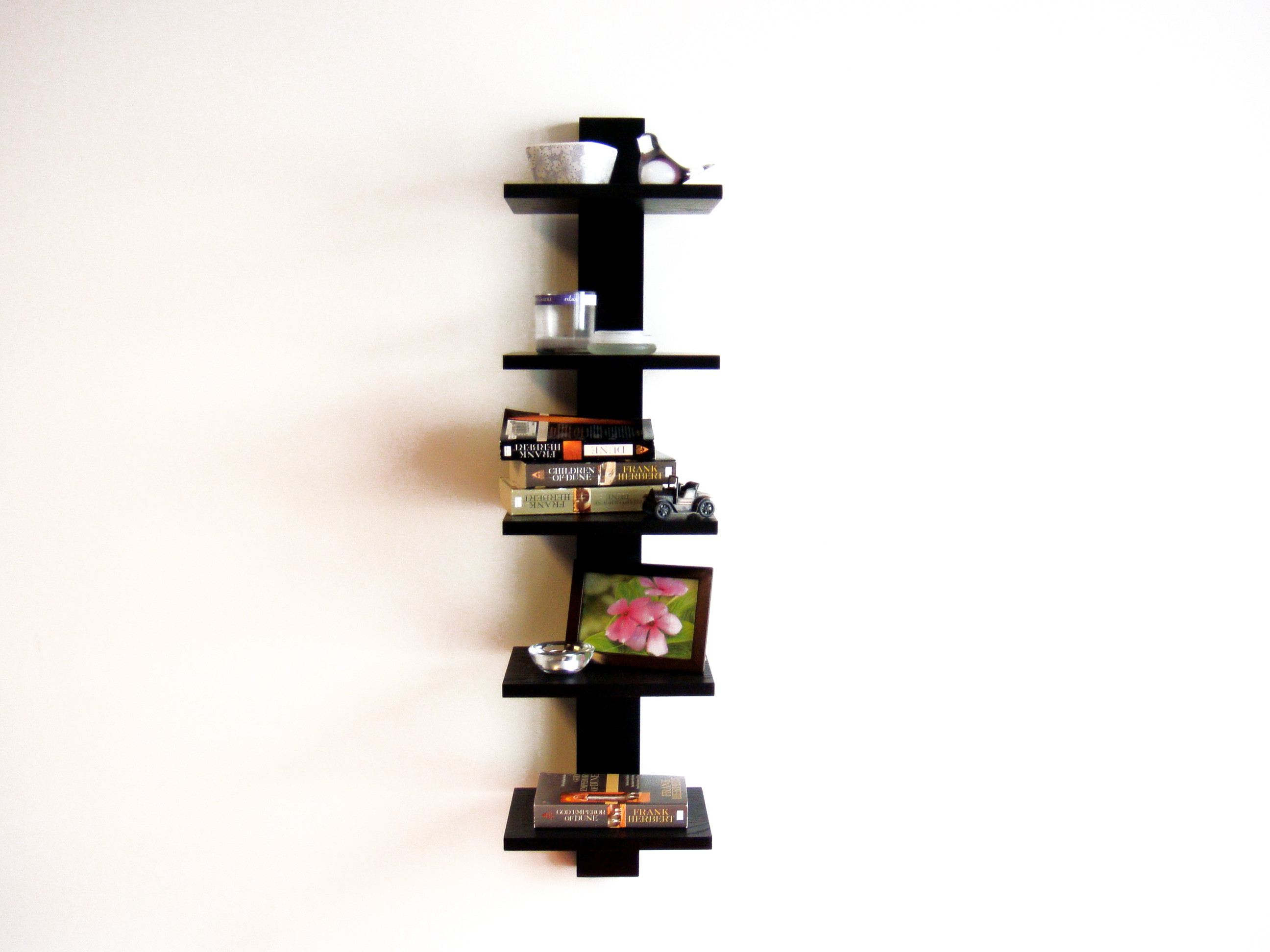 Best ideas about Vertical Wall Shelf . Save or Pin Vertical Wall Mounted Shelves For Books In Black of Now.