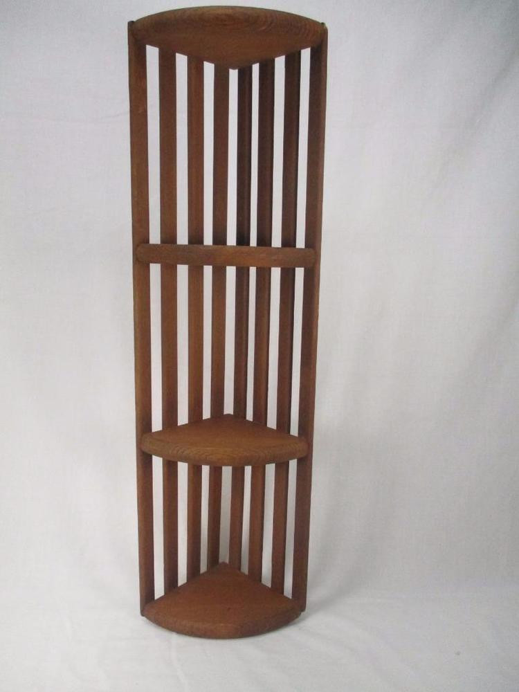 Best ideas about Vertical Wall Shelf . Save or Pin Vtg Wall Hanging Shelf 3 Tier Wood Wooden Vertical Now.