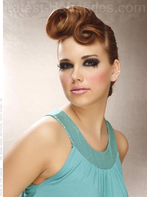 Best ideas about Vintage Updos Hairstyles . Save or Pin Stunning Updos For Medium Length Hair 2 Now.