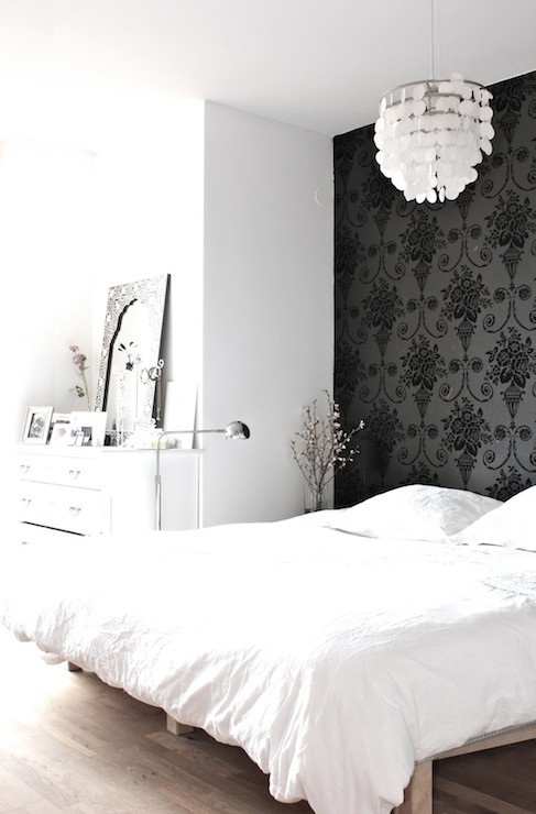 Best ideas about Wallpaper Accent Wall Bedroom . Save or Pin Wallpaper Accent Wall Transitional bedroom My Now.