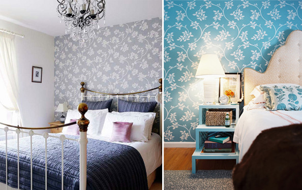 Best ideas about Wallpaper Accent Wall Bedroom . Save or Pin Wallpaper for the Bedroom Behind the Bed The Inspired Room Now.
