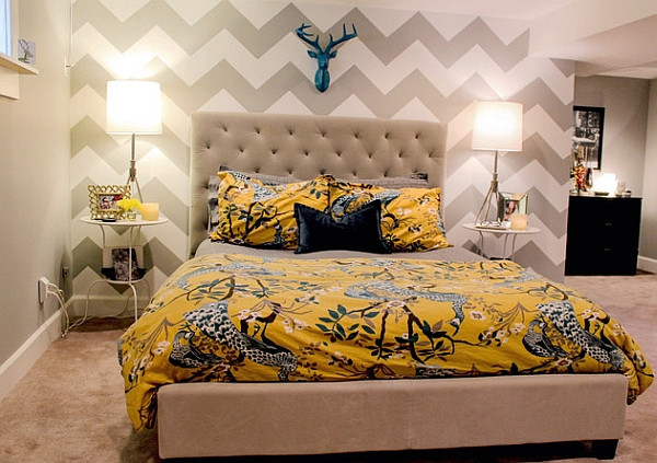 Best ideas about Wallpaper Accent Wall Bedroom . Save or Pin Bedroom Accent Walls to Keep Boredom Away Now.
